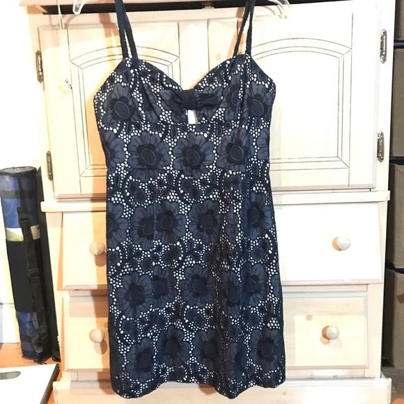 Milly of New York Dresses & Skirts - MILLY dark navy eyelet dress m, NWOT